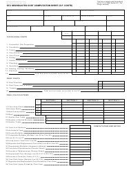 Form 622 Stc Segregated Cost Computation Sheet (S.f. Costs) - Michigan