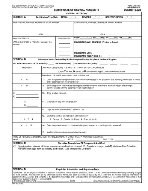 Form CMS-853  Printable Pdf