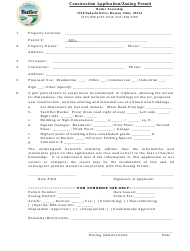"""Construction Application/Zoning Permit"" - Butler Township, Ohio"
