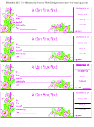 """Gift Certificate Templates"""