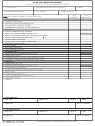 DA Form 7382 Sling Load Inspection Record