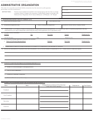 "Form LIC-309 ""Administrative Organization"" - California"