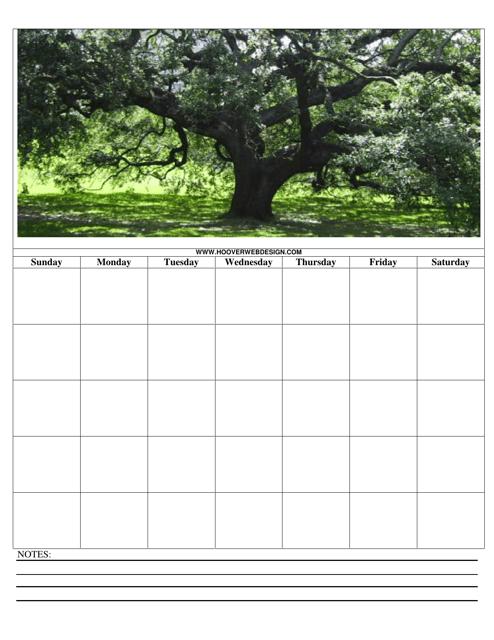 """Blooming Tree Calendar Template"" Download Pdf"