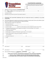 Counteroffer Addendum Form - Transition Realty - Minnesota