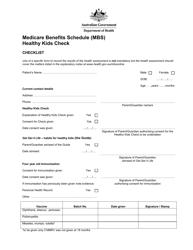 Medicare Benefits Schedule (Mbs) Healthy Kids Check - Australia