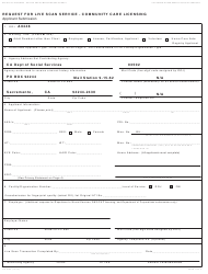 Form LIC 9163 Request for Live Scan Service - Community Care Licensing - California