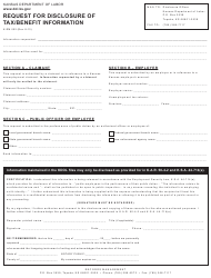 "Form K-RM002 ""Request for Disclosure of Tax/Benefit Information"" - Kansas"