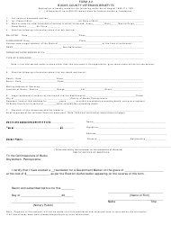Form 2 Veterans Benefits Form - BUCKS COUNTY, Pennsylvania