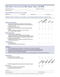 """Abnormal Involuntary Movement Scale (Aims)"" - New Hampshire"