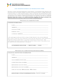"""ACH Vendor Payment Authorization Form - Association of Governments"" - California"