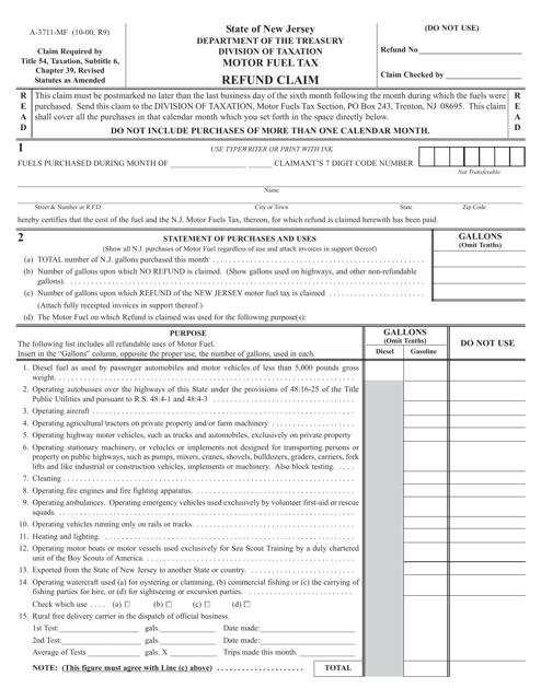 Form A-3711-MF  Printable Pdf