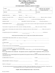 """Internship Enrollment Form - the College of New Jersey"""