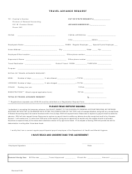 Travel Advance Request Form - Maryland