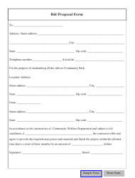 bid proposal form download fillable pdf templateroller