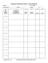 Form DS-DE 13A Campaign Treasurer's Report - Fund Transfers - Florida
