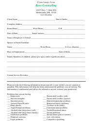 Client Intake Form - Rose Counseling