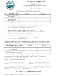 Roofing Siding Permit Application Form - TOWNSHIP OF NORTHAMPTON, Pennsylvania