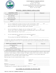 """Roofing Siding Permit Application Form"" - Northampton Township, Pennsylvania"