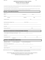 """Request Form for Leave of Absence to Teach in a Charter School - Metropolitan Nashville Public Schools"""