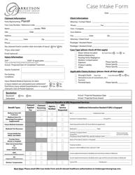 Case Intake Form - Garretson Resolution Group