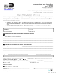 "Form MDC-0054 ""Request for Voucher Extension"" - Miami-Dade County, Florida"