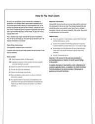 Form 82160-Flu Download Printable PDF or Fill Online Claim ...