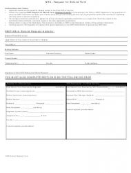 Request For Refund Form - Nrd - California