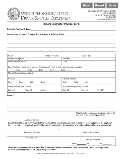 Form 57.3  Printable Pdf