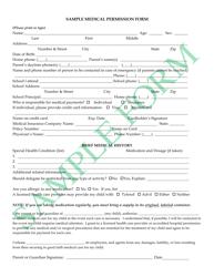 """Sample Medical Permission Form"""