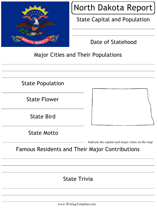 """State Research Report Template"" - North Dakota Download Pdf"