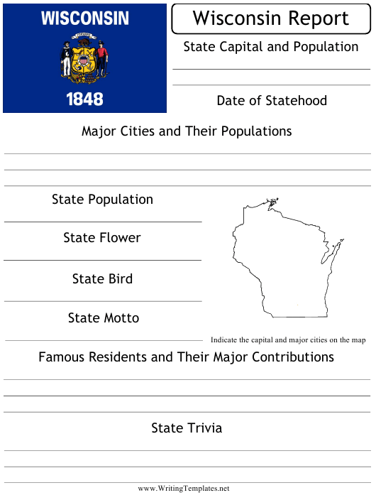 """""""State Research Report Template"""" - Wisconsin Download Pdf"""