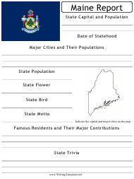 """State Research Report Template"" - Maine"