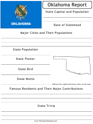 """State Research Report Template"" - Oklahoma"