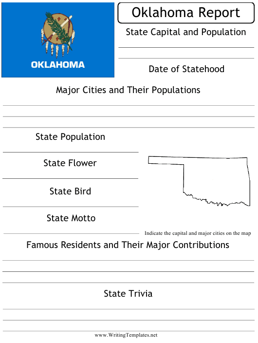 """State Research Report Template"" - Oklahoma Download Pdf"