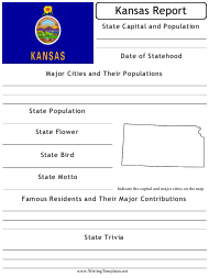 """State Research Report Template"" - Kansas"