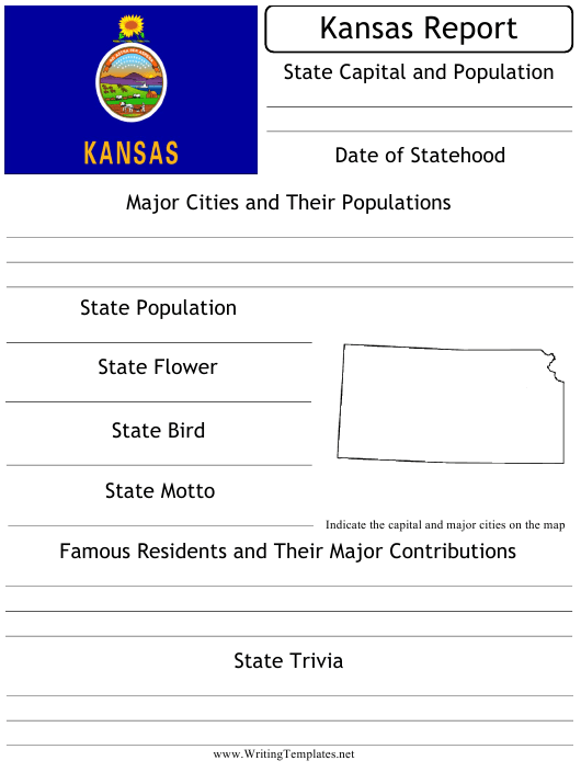 """""""State Research Report Template"""" - Kansas Download Pdf"""
