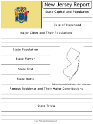 """State Research Report Template"" - New Jersey"