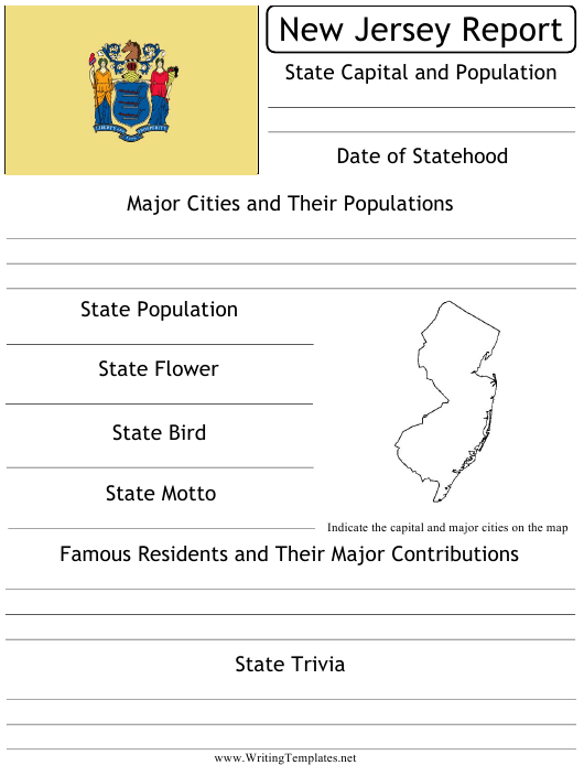 """State Research Report Template"" - New Jersey Download Pdf"