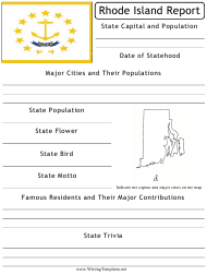 """State Research Report Template"" - Rhode Island"
