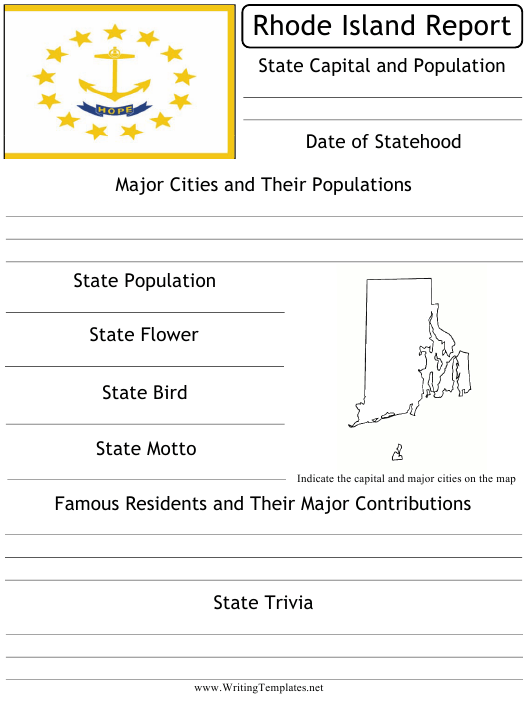 """""""State Research Report Template"""" - Rhode Island Download Pdf"""