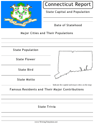 """Research Report Template"" - Connecticut"