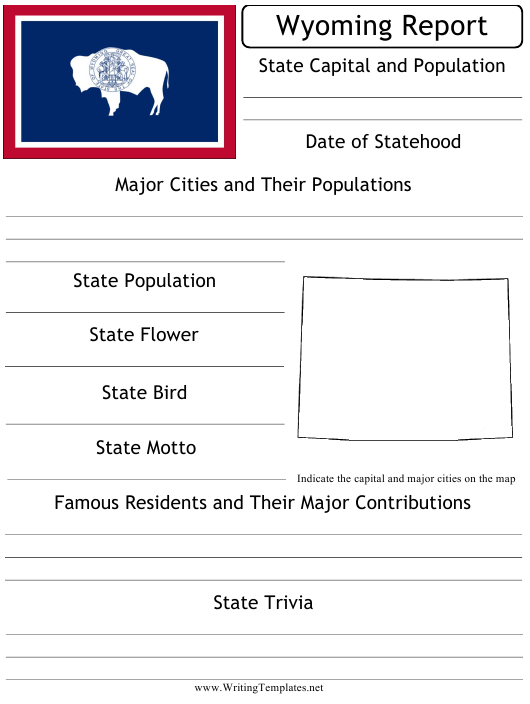 """State Research Report Template"" - Wyoming Download Pdf"