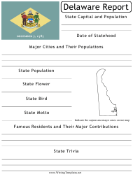 """State Research Report Template"" - Delaware"