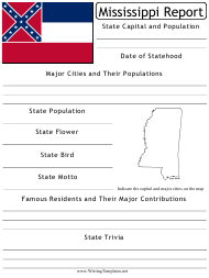 """State Research Report Template"" - Mississippi"