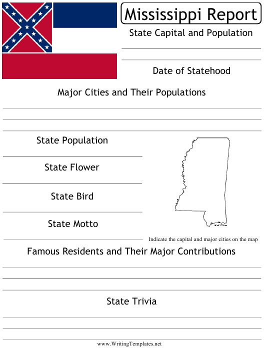 """State Research Report Template"" - Mississippi Download Pdf"