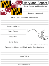 """State Research Report Template"" - Maryland"