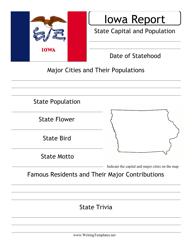 State Research Report Template - Iowa