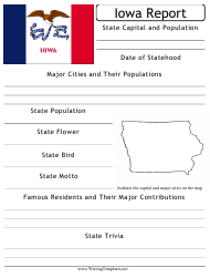 """State Research Report Template"" - Iowa"