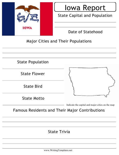 """State Research Report Template"" - Iowa Download Pdf"