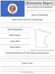 """State Research Report Template"" - Minnesota"